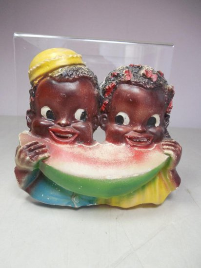 Vintage Black Americana Watermelon Wall Plaque