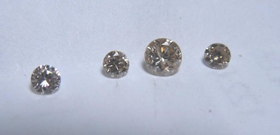 .30 Carat Total Weight Lot Of Champagne Diamonds