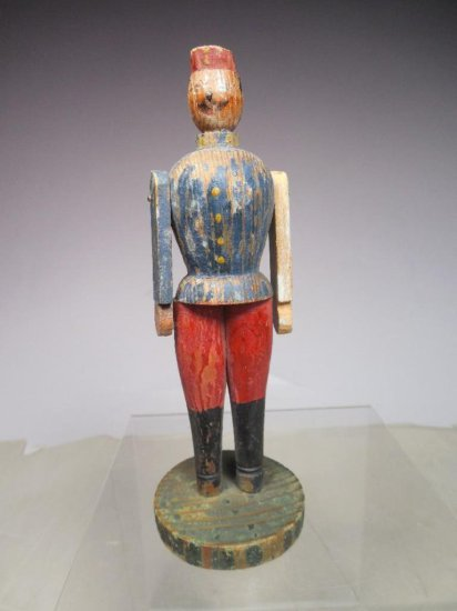Antique Folk Art Painted Wood Toy Soldier
