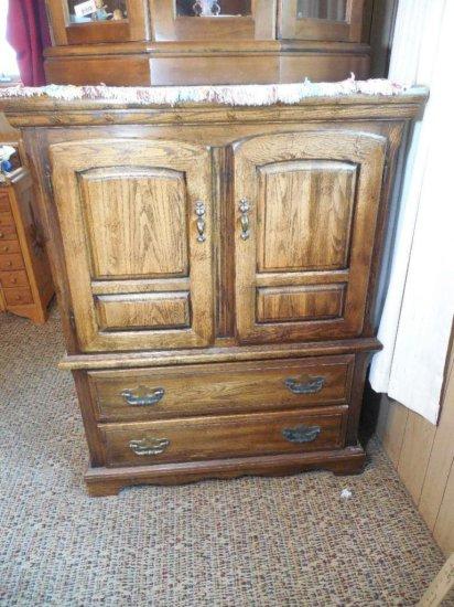Vintage Double Door Dresser/storage Cabinet