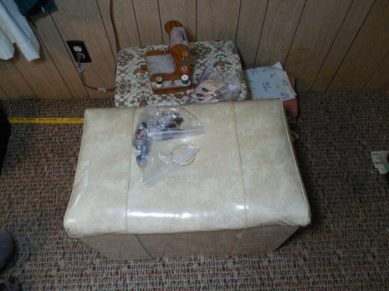 Antique Sewing And Fabric Lot