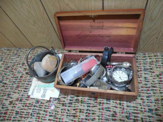 Great Lot Antique Jewelry, Pocket Watches Etc
