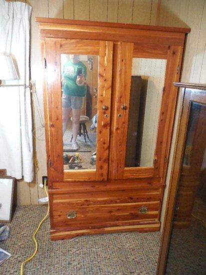Nice Cedar Wardrobe W/mirrors