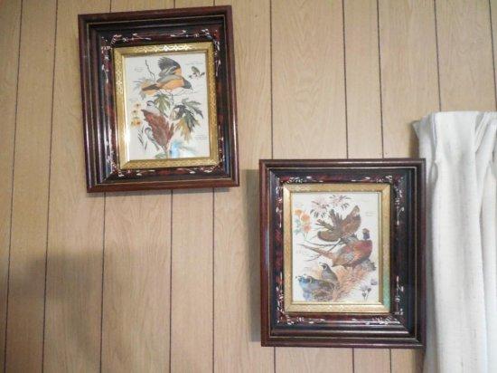 2 Vintage Bird Prints In 19th Century Frames