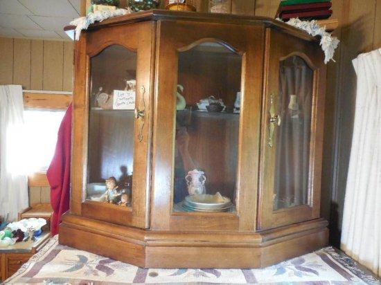Vintage Wooden Two-door Display Cabinet