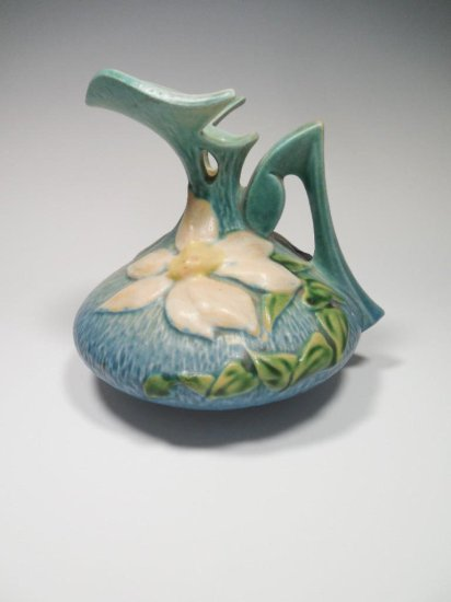 Nice Roseville Pottery Pitcher 16-6 Clematis Ewer