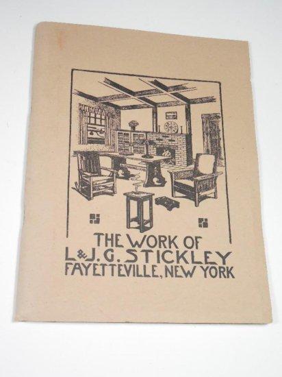 Rare Early Catalog Work of L&JG Stickley NY