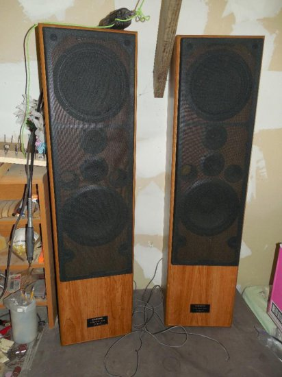 Pair Vintage Pioneer 4-Way Speaker Towers