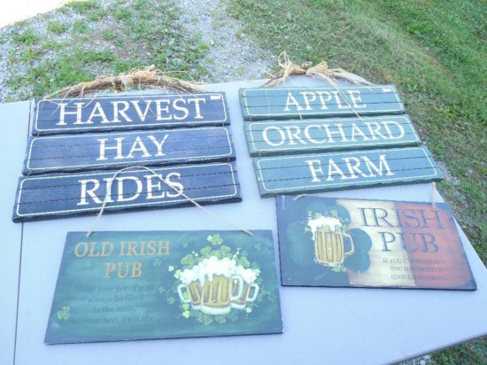 Group Lot of 4 Decorative Signs