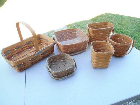 Group Lot of 6 Baskets Inc. Longaberger