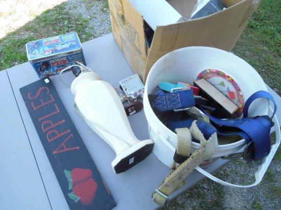 Group Lot Straps, Sign, Flea Market Items
