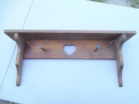Vintage Wooden Shelf/Rack w/Heart