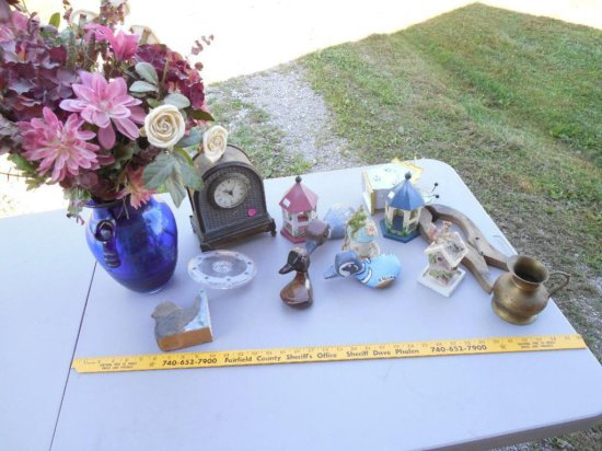 Group Lot of Vintage Items Inc. Clock, Glass