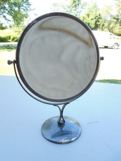 Vintage Double Sided Shaving or Vanity Mirror