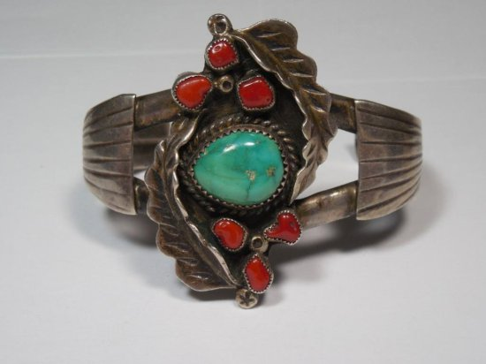 Rare Early Sterling Silver Native American Bracelet