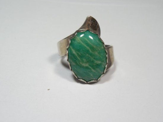 Native American Sterling Silver Ring - Turquoise