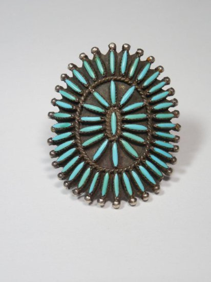 Turquoise Native American Ring - Sterling Silver