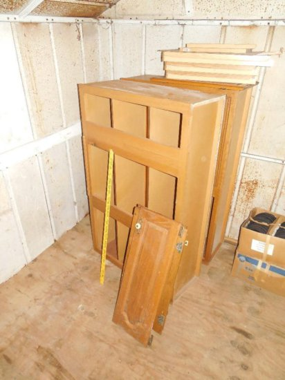 Wooden Cabinets and Doors Lot