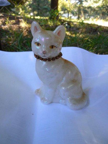 Old Fenton Glass Cat