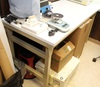 """Workplace work station table, table top is 72"""""""