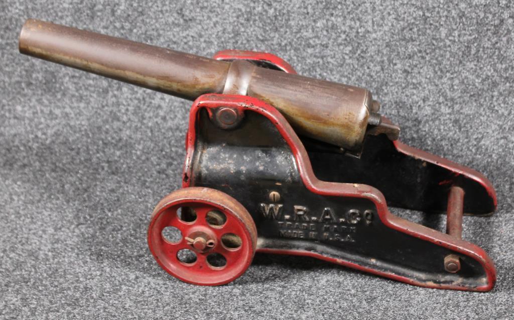 Lot: Winchester W R A  Co  10 ga signal cannon having 2 line barrel