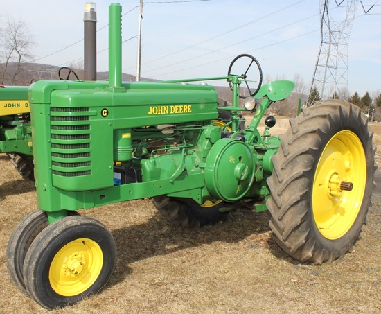 1947 JD G tractor, new paint, Serial No. 25616,
