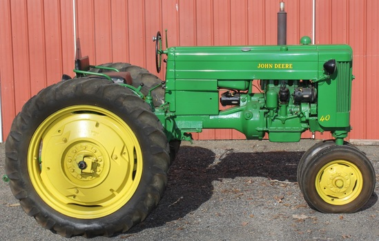 1953 JD 40 T tractor, Serial No. 69275