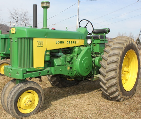 1960 JD 730 Diesel Row-Crop tractor, starting engine, excellent condition,