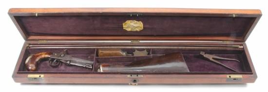 *Unknown British Smith's Patent, Cased under hammer pistol carbine