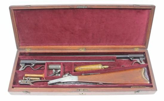 *Massachusetts Arms Co., Cased Maynard First Model Two Barrel set