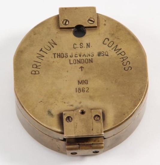Rare Confederate States Navy Marked Brinton Compass Transit Model MK1 1862.