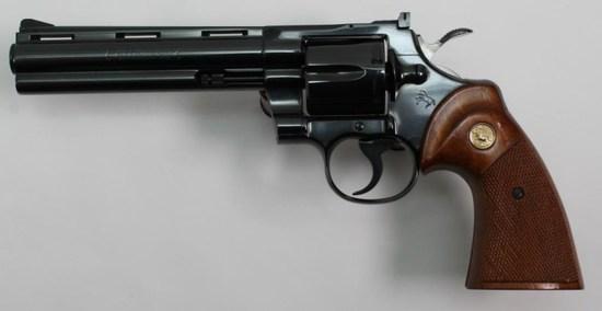 "Colt, Python, .357 Magnum, revolver, brl length 6"", double action,"