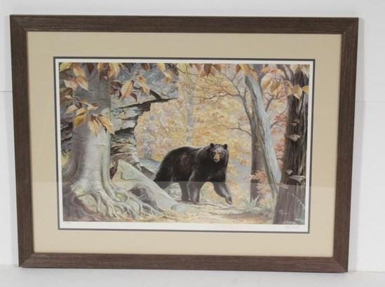 """A Little Bit Curious"" framed print by Ned Smith, signed, 216/600, 34""x26"", UPS PACK AND SHIP ONLY!"