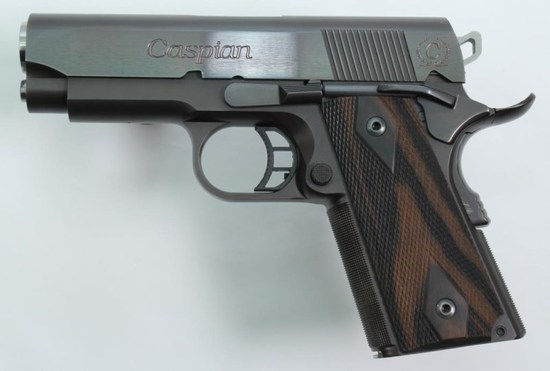 "Caspian, 1911 Officer's Model Concealed Carry, .45 ACP, pistol, brl length 3.5"", semi auto,"