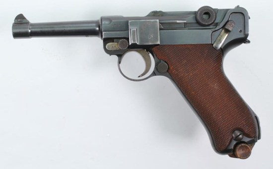 "DWM, 1918 German Military Contract P O8 Luger, 9 mm, pistol, brl length 4"", semi auto"