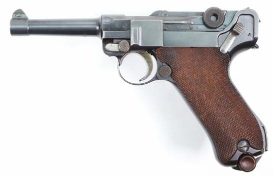 """DWM, P 08 Commercial Luger, 7.65mm, pistol, brl length 4"""", semi auto,"""