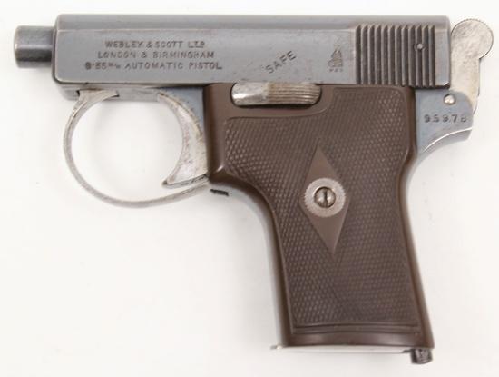 Webley & Scott, Model 1907 Vest Pocket, 6.35mm, s/n 95978, pistol,