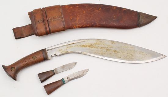 "Original WWII period Nepalese Gurkha Khukuri having a 13"" blade"