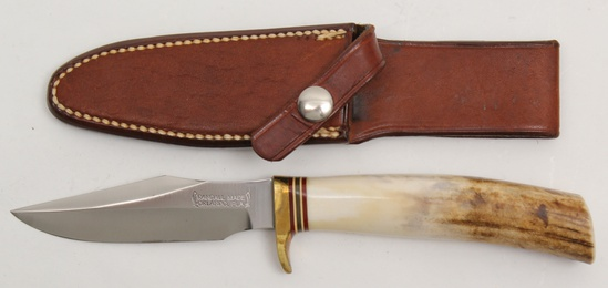 "Randall Model 8 Trout and Bird knife having 4"" blade,"