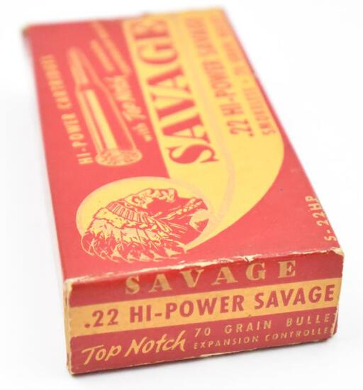 .22 HI-Power savage ammunition -  (1) box Savage