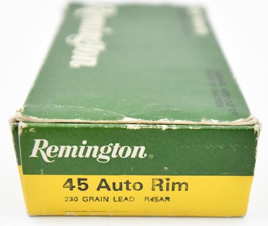 .45 Auto Rim ammunition - (1) box Remington