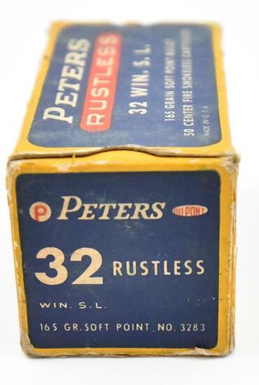 32 Win. S.L. ammunition - (1) box Peters Rustless