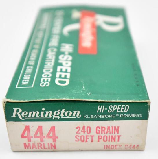 444 Marlin ammunition - (1) box Remington Hi-Speed