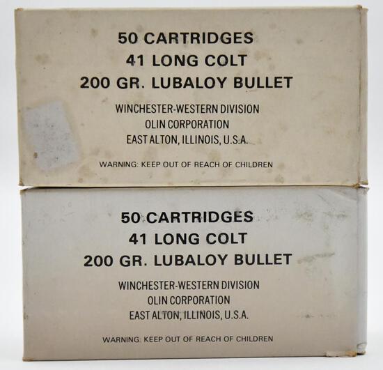 41 Long Colt ammunition - (2) boxes Winchester -