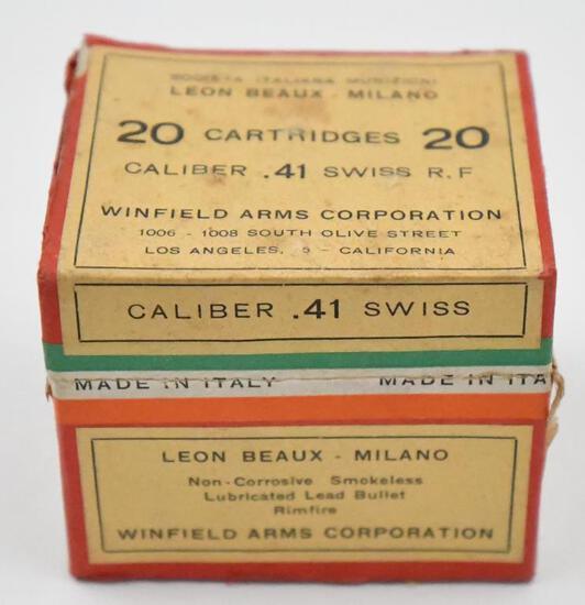 Rare .41 Swiss Rim-Fire ammunition - (1) box