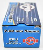 7.62mm Nagant ammunition (1) box PPU 98 grain