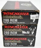 .280 Remington ammunition (3) boxes Winchester