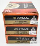 338 Federal ammunition (3) boxes Federal