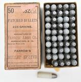 .32 cal. Patched Bullets (1) box Farrow Arms Co.