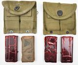 (2) US Army M1 carbine magazine double pouch